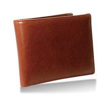 栃木レザー 内LF札入れ 二つ折り財布 タン