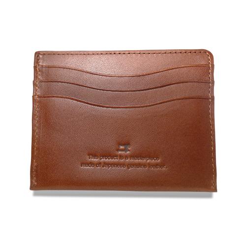 栃木レザー コンパクト 折札入れ 財布 タン