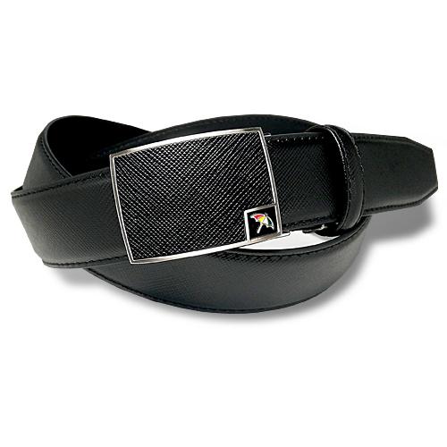 アーノルドパーマー メンズ ビジネス カジュアル FIT レザーベルト 穴なし ブラック