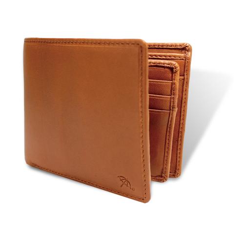 ペコラシリーズ シープスキン ベら札入れ 二つ折り財布 タン