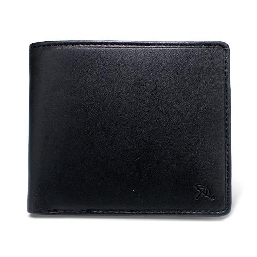 ペコラシリーズ シープスキン 札入 二つ折り財布 ブラック
