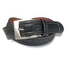 アーノルドパーマー ステッチ 柄付き カジュアル ベルト ブラック