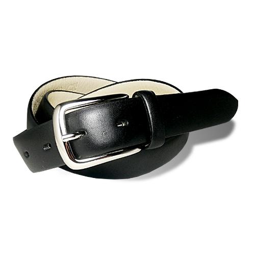 栃木レザー メンズ PIN レザーベルト ブラック