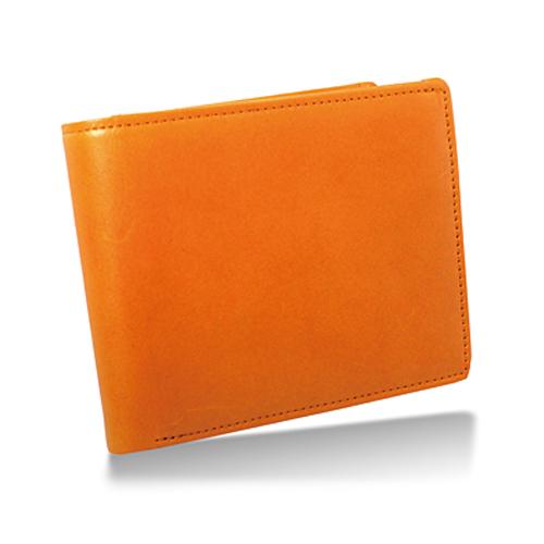 栃木レザー 内LF札入れ 二つ折り財布 キャメル