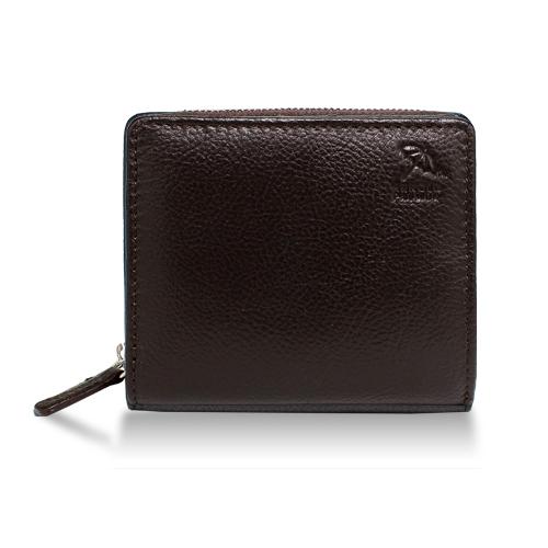 アーノルドパーマー多機能Ⅲ二つ折り財布ラウンド札入れブラウン