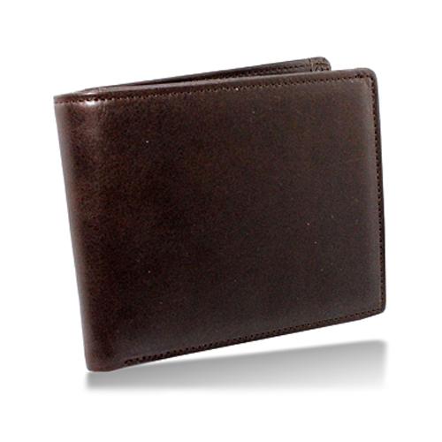 栃木レザー 内LF札入れ 二つ折り財布 ブラウン