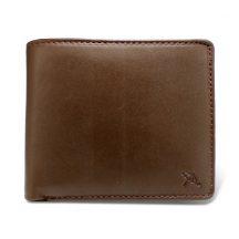 ペコラシリーズ シープスキン 純札入 二つ折り財布 小銭入れ無しブラウン