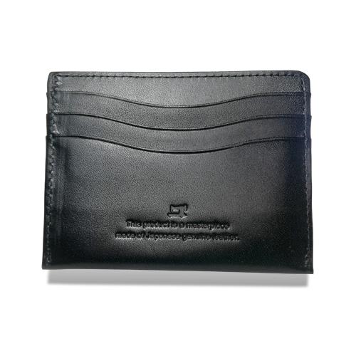 栃木レザー コンパクト 折札入れ 財布 ブラック