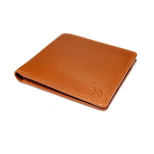 ペコラシリーズ シープスキン 純札入 二つ折り財布 小銭入れ無し 説明1