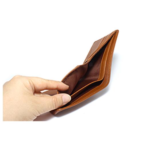 ペコラシリーズ シープスキン 純札入 二つ折り財布 小銭入れ無し 説明4