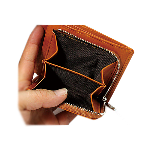 栃木レザー 内LF札入れ 二つ折り財布 説明2