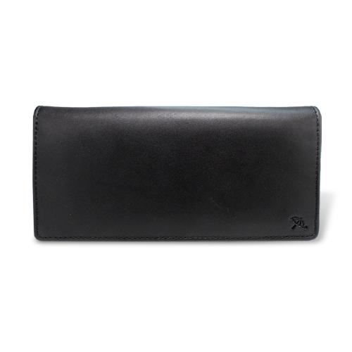 ペコラシリーズ シープスキン 束入れ 長財布 ブラック