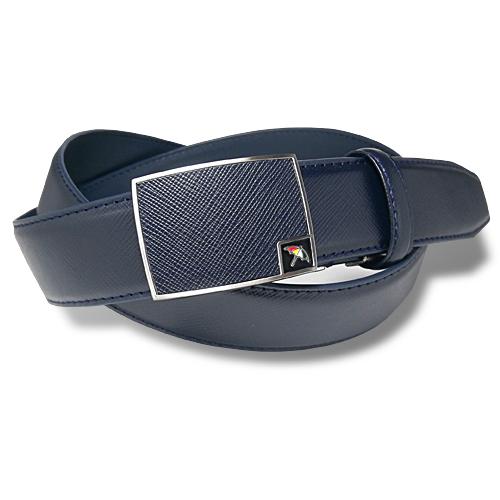 アーノルドパーマー メンズ ビジネス カジュアル FIT レザーベルト 穴なし ネイビー